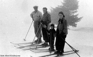 Soldan sırayla Saim Altıok, H. Muzaffer Kalkan, ben ve Şahsine Altıok