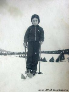 30'lu yılların küçük kayakçısı ben